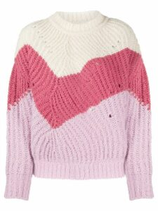 Ba & Sh Balmy colour blocked jumper - White