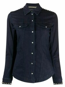 Patrizia Pepe studded denim shirt - Blue