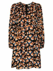 byTiMo v-neck floral mini dress - Black