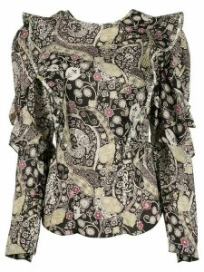 Isabel Marant Étoile Constance ruffle trim blouse - Black
