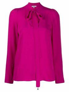 Patrizia Pepe bow tie blouse - PINK