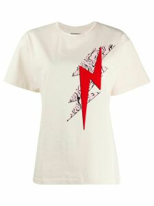 Isabel Marant Yates lightning bolt print T-shirt - NEUTRALS