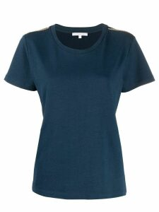Patrizia Pepe chain shoulder embellishments T-shirt - Blue