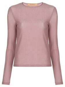 Andamane long-sleeved metallic top - PINK
