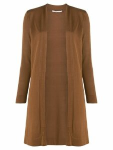 Agnona long open front cardigan - Brown