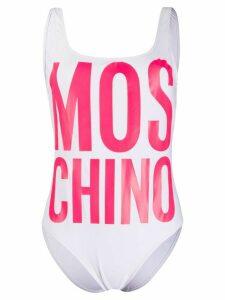 Moschino logo print swimwear - White