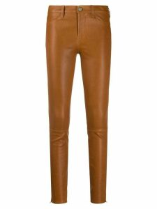 J Brand mid-rise skinny jeans - Brown