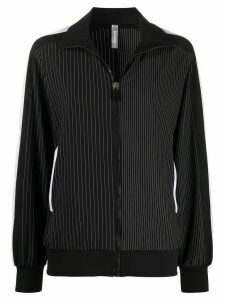 No Ka' Oi pinstripe print jacket - Black
