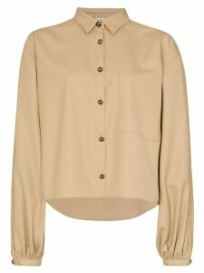 Totême balloon sleeve buttoned shirt - NEUTRALS