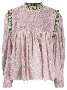Isabel Marant Étoile long sleeve Vega floral print blouse - PINK