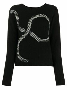 Suzusan long sleeve graphic print jumper - Black