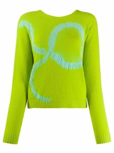Suzusan long sleeve graphic print jumper - Green