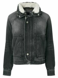 Saint Laurent fitted denim jacket - Black