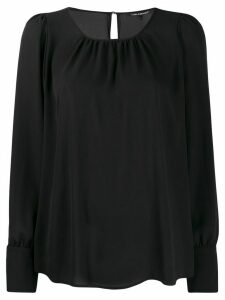 Luisa Cerano relaxed plain blouse - Black