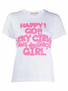 Comme Des Garçons Girl graphic-print cotton T-shirt - White