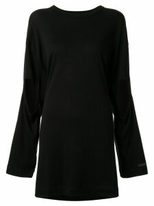 Yohji Yamamoto oversized cut-out sleeves top - Black
