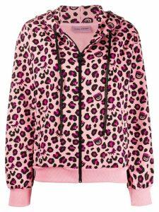 Chiara Ferragni leopard print hoodie - PINK