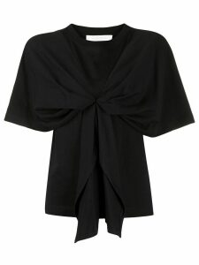 See By Chloé knot detail short sleeve T-shirt - Black