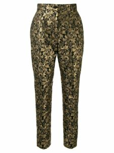 Dolce & Gabbana lurex floral jacquard trousers - GOLD