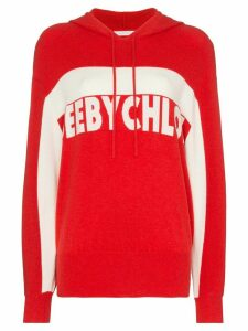 See By Chloé intarsia knit logo hoodie - Red
