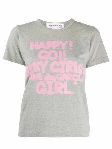 Comme Des Garçons Girl graphic-print cotton T-shirt - Grey