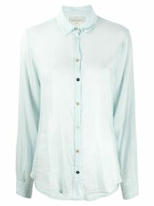 Forte Forte sheer long-sleeve blouse - Blue