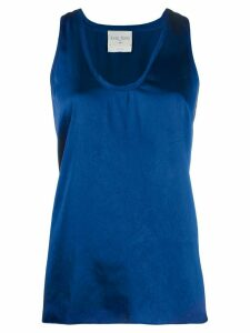 Forte Forte crossed satin vest top - Blue