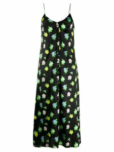 Bernadette Hailey floral silk slip dress - Black