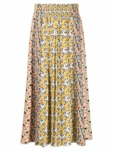 Prada Liberty pleated long skirt - Yellow