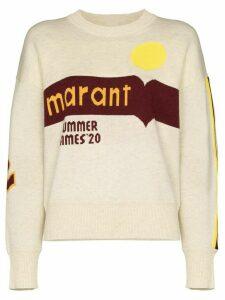 Isabel Marant Étoile Kleden logo jumper - NEUTRALS