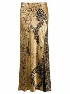 Rixo Parker leopard-print silk skirt - Brown