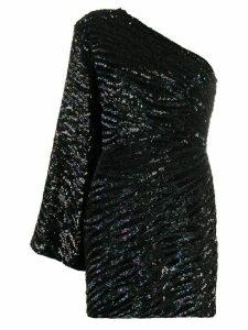 Retrofete one sleeve embellished dress - Black