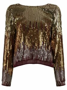 Rixo Bettina ombré sequinned blouse - GOLD
