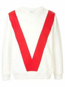 Ports V V print sweatshirt - White