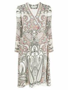 Etro paisley-print midi dress - NEUTRALS