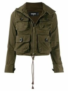 Dsquared2 cropped utility jacket - Green