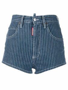 Dsquared2 pinstripe denim shorts - Blue