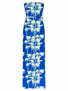 Bernadette Carrie strapless floral-print maxi dress - Blue