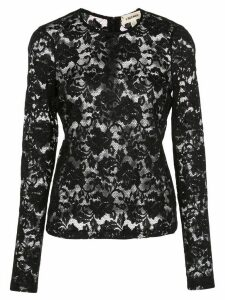 L'Agence lace constructed long sleeve top - Black