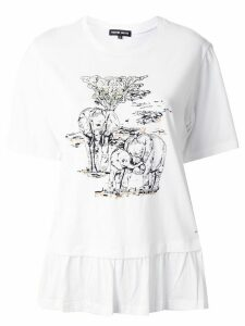 Markus Lupfer elephant print T-shirt - White