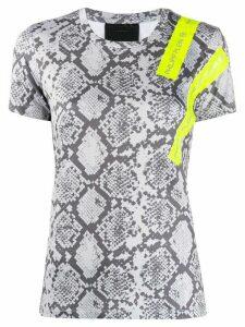Philipp Plein crew-neck SS snakeskin-print T-shirt - Grey