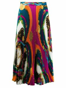 Versace Barocco Rodeo print pleated midi skirt - Red