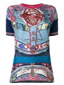 Etro mixed print top - Blue