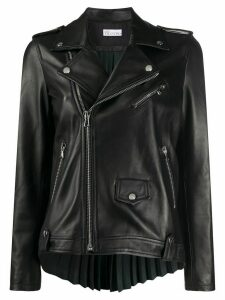 RedValentino pleated back leather jacket - Black