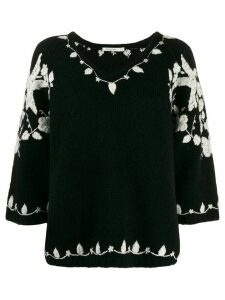 Mes Demoiselles embroidered design jumper - Black