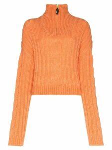 Nanushka Eria turtleneck jumper - ORANGE