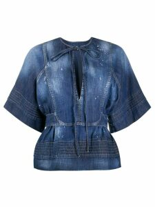 Dsquared2 acid wash blouse - Blue