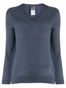 Lorena Antoniazzi fine knit v-neck jumper - Blue