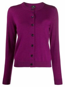 PS Paul Smith slim-fit knitted cardigan - PINK
