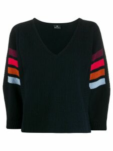 PS Paul Smith contrasting stripe cropped jumper - Blue